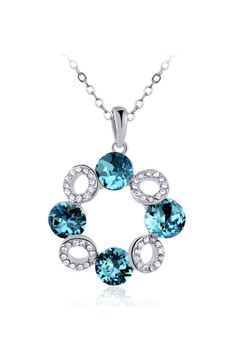 Zumqa Luxurious Round Design Crystal&Diamond Necklace 10597