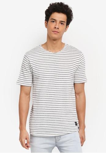 Only & Sons 藍色 條紋針織T恤 832B0AA4968D0AGS_1
