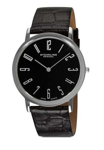 Belmoesprit鞋子nt 數字鱷魚紋真皮手錶, 錶類, 皮革錶帶