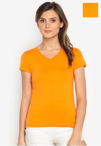 Organic orange V-neck 2 in 1 Shirt OR165AA0J27WPH_1
