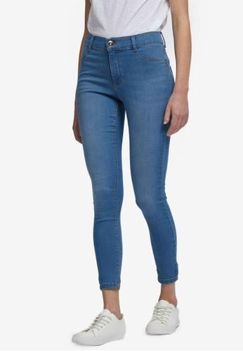 Dorothy Perkins blue Midwash Frankie Ankle Grazer Jeans 0D5C2AA5590503GS_1