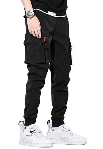 Twenty Eight Shoes black VANSA  Solid Color Plush Casual Pants  VCM-P1912V CC3B3AA9C60F9CGS_1
