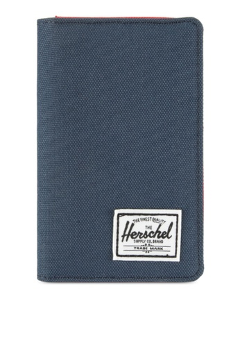 Herschel red and navy Frank RFID Wallet 205DDAC544EFDEGS_1