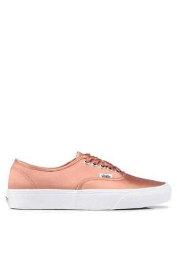 VANS pink Authentic Satin Lux Sneakers VA142SH0SWSCMY_1