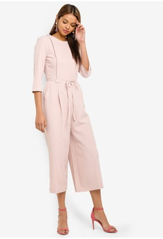 a2d378c42bb Miss Selfridge Pink Structured Jumpsuit HK  560.00. Sizes 6 8 10 14