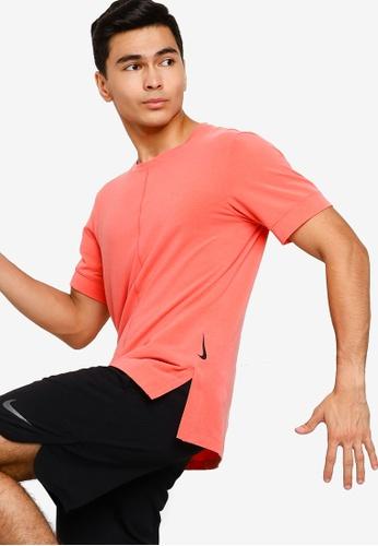 Nike orange Short Sleeve Dry Training/Yoga Tee F9E95AA504DC90GS_1