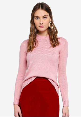 NAIN pink Round Neck Knit Top D8006AA7447D3AGS_1