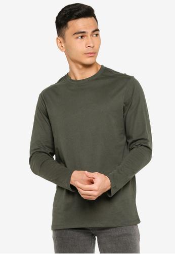 Electro Denim Lab green Long Sleeves Tee 94046AACB81586GS_1