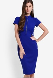 Dorothy Perkins blue Cobalt Zip Dress DO816AA40NFVMY_1