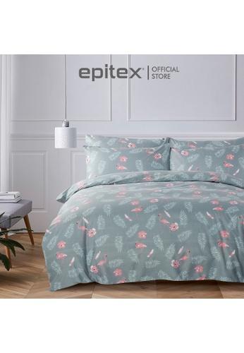 Epitex grey Epitex 900TC Homu Printed Fitted Set - Bedsheet Set - Bedding Set (w/o quilt cover) E0C0EHL846811AGS_1