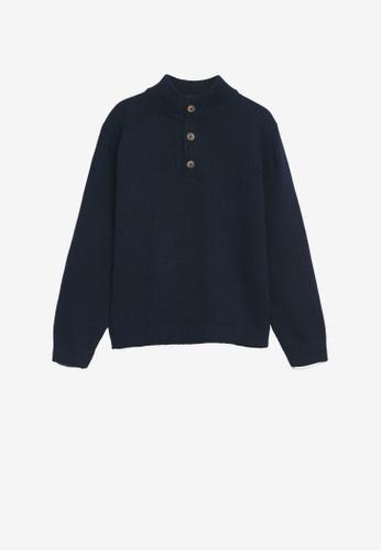 MANGO KIDS blue Patch Cotton Sweater 4A2F6KAF377F22GS_1