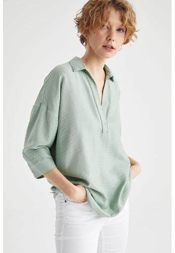 DeFacto green Woman Woven Long Sleeve Tunic 39F71AA06826EEGS_1