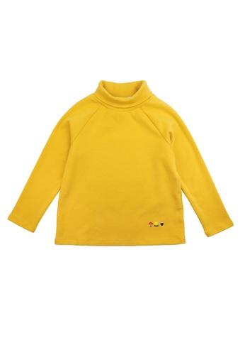 Vauva yellow Vauva Kids Basic Turtleneck Top - Yellow E7E65KA4831E21GS_1