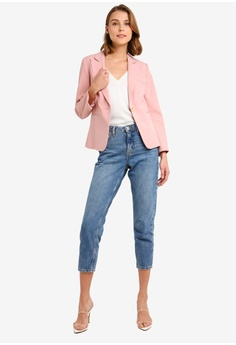 196218e9426 15% OFF Miss Selfridge Petite Pink Open Weave Blazer HK$ 740.00 NOW HK$  628.90 Available in several sizes
