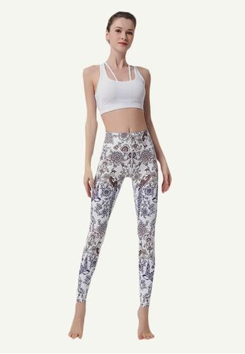 B-Code multi ZYG5036D-Lady Quick Drying Running Fitness Yoga Sports Leggings-Multi 0FCB1AAC26622EGS_1