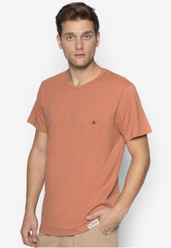 Brosnan 鈕esprit sg扣口袋TEE, 服飾, T恤