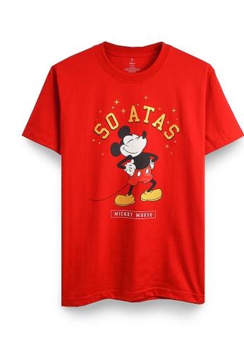 GOLDWOOD red DISNEY MICKEY SO ATAS T-SHIRT - RED 24497AA9AF88EEGS_1
