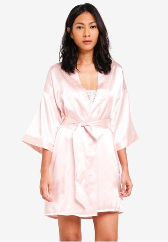 Lipsy pink Bridesmaid Robe 3B723AA5DBE5B6GS_1