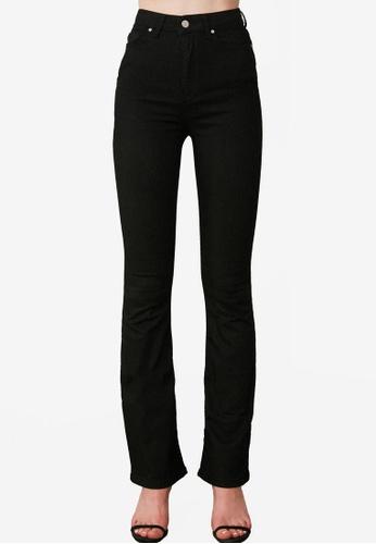 Trendyol black High Waist Flare Jeans 4116FAAD89A06BGS_1