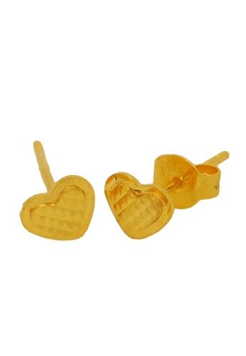 LITZ gold LITZ 916 (22K) Gold Heart Earrings D25E1AC0A7F54EGS_1