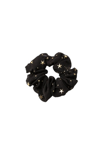 Kings Collection black Star Scrunchy (HA20055) 923F8AC3113268GS_1