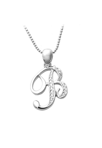 "The LoveMark silver Capital ""B"" Necklace TH516AC58WUNPH_1"