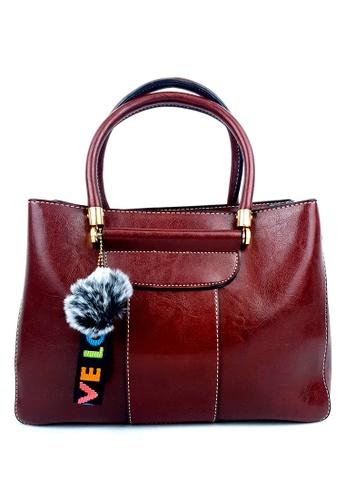 BELLE LIZ red Fashionable Love PU Handbag Red 1A77DACB0AF68BGS_1