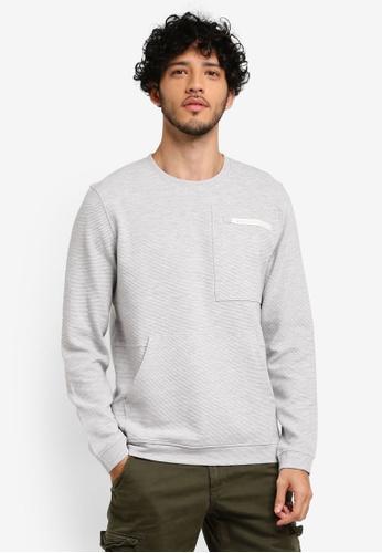ESPRIT grey Long Sleeve Sweatshirt 03AD6AA2A05464GS_1