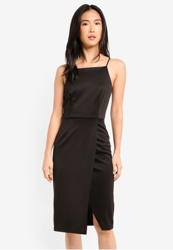 ZALORA black Wrap Skirt Pencil Dress E7921AA6592576GS_1