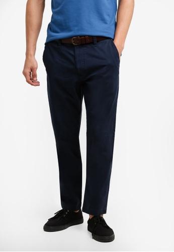 Hollister 海軍藍色 緊身奇諾褲子 HO422AA0RDNIMY_1