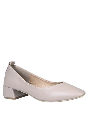 Twenty Eight Shoes beige Basic Square Toed Mid Heels VL1681 349FESHCAB20BBGS_1