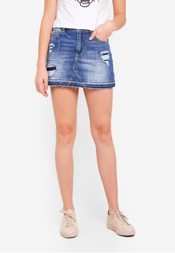 Hollister blue Denim Skirt DD12BAA71EB561GS_1