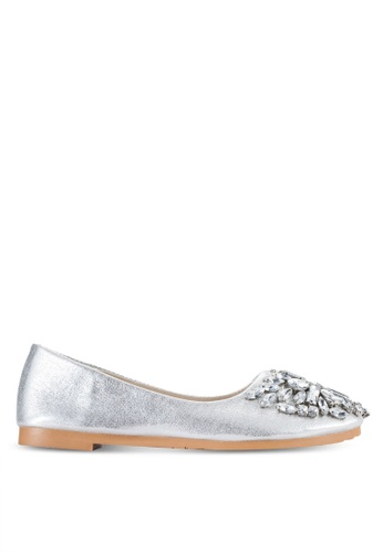 Sunnydaysweety silver 2018 New Bling Ballet Flats A0208SV F301FSH1C446A0GS_1