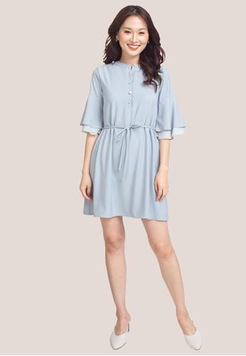 L'zzie blue LZZIE CATHERINE DRESS - BLUE F4C58AAE6D4BF4GS_1