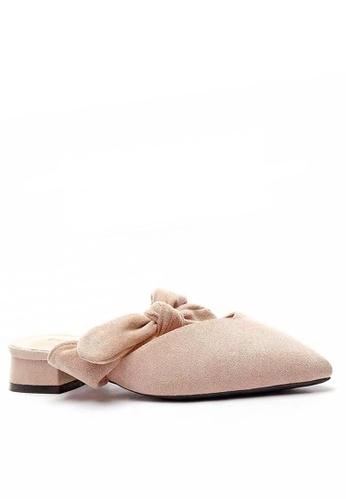 Twenty Eight Shoes 米褐色 優質絨面蝴蝶結尖頭拖鞋903-9 A9FC3SH1CD71BAGS_1