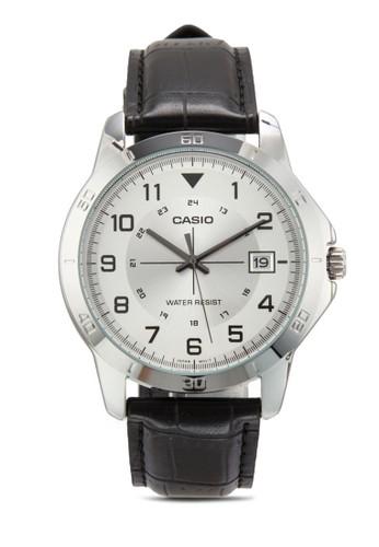 MTP-V008L-7B1UDF esprit童裝門市經典皮革圓錶, 錶類, 飾品配件