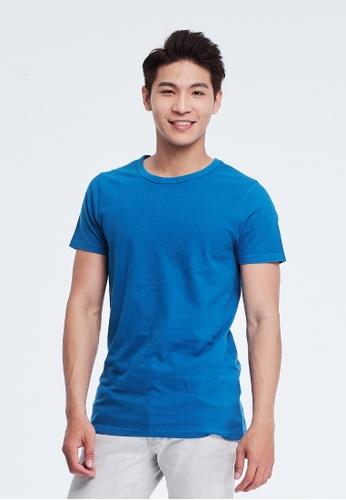 so that's me 藍色 and 海軍藍色 簡單素面蜜桃棉圓領短袖男T海藍 3A55BAA9005E47GS_1