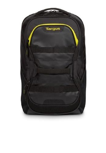 "Targus black and yellow Targus 15.6"" Stamina Fitness Backpack 8BB91ACFC9DDE6GS_1"