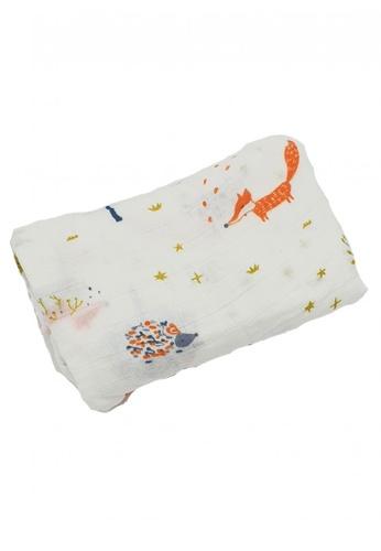 Akarana Baby multi Newborn Baby Bamboo Muslin Swaddle Soft Blanket Foxy 64F20KCAB142E0GS_1