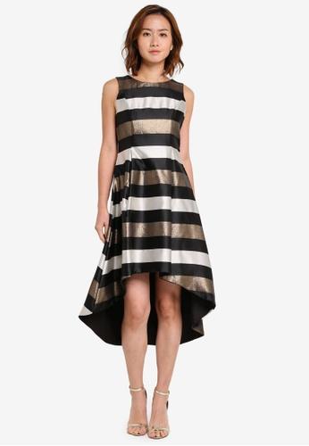 Megane black Red Romance Romaine Hi-Low Dress ME617AA0SZWOMY_1