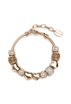 3689a4c5d Her Jewellery gold Radiant Charm Bracelet - Crystals from Swarovski®  HE210AC0GLSQSG_1