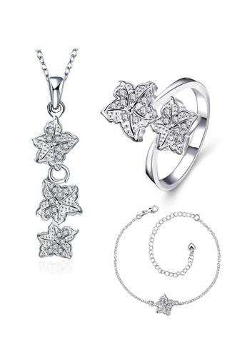 Treasure by B & D gold S030-C Flower Jewelry Set TR022AC25UGCPH_1