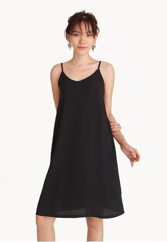 Pomelo black Mini Spaghetti Slip Dress - Black 5CEEBAAE1D7D7BGS_1