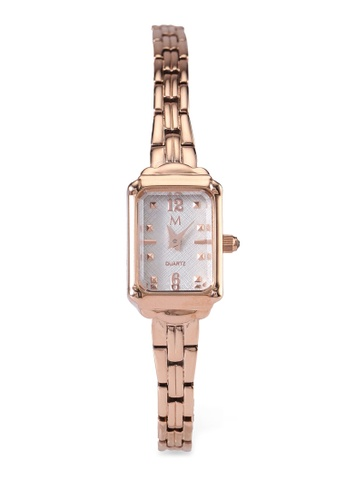 Milliot & Co. 橘色 Ivy Rose Gold Strap Watch E41FAAC80AE034GS_1