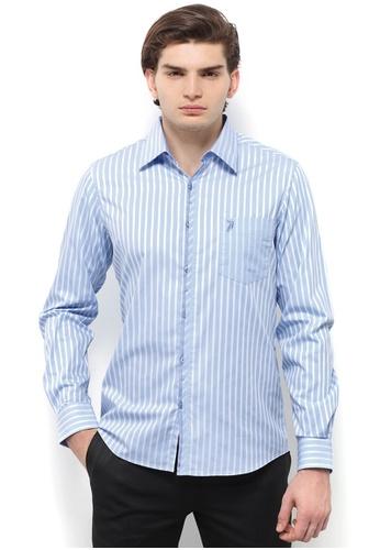POLO HAUS blue Polo Haus - Woven Shirt (Light Blue) PO783AA72BFFMY_1