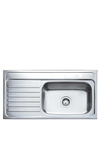 Teka Sink silver America 950.510.1B.LD.4H Inlay Sink 1E6BCHLE934470GS_1