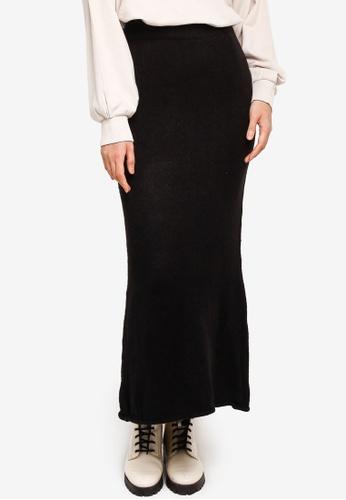 niko and ... black Midi Knit Skirt B4B07AA904581BGS_1