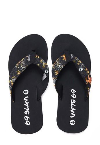 69 SLAM black Skull Fish Sandal 3A45ASHE4D59B5GS_1