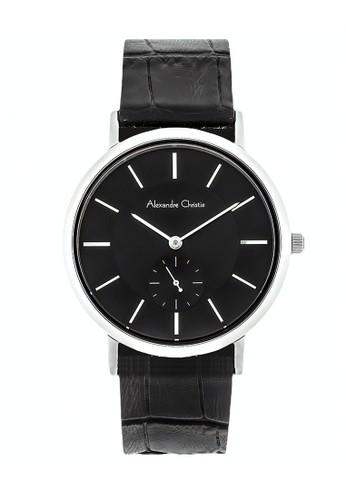 Alexandre Christie black Alexandre Christie Jam Tangan Wanita - Black Silver - Leather Strap - 8575 LSLSSBA 62E39AC8DB93C8GS_1