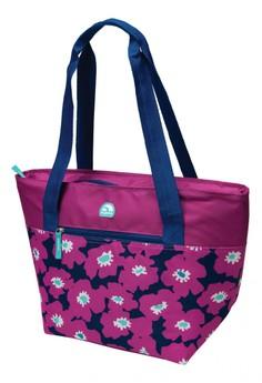 Vivid Floral Orchid Cooler Tote 16 Bag